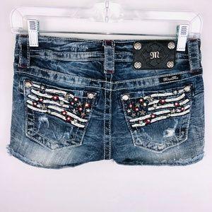 Miss Me American Flag Patriotic Shorts 25